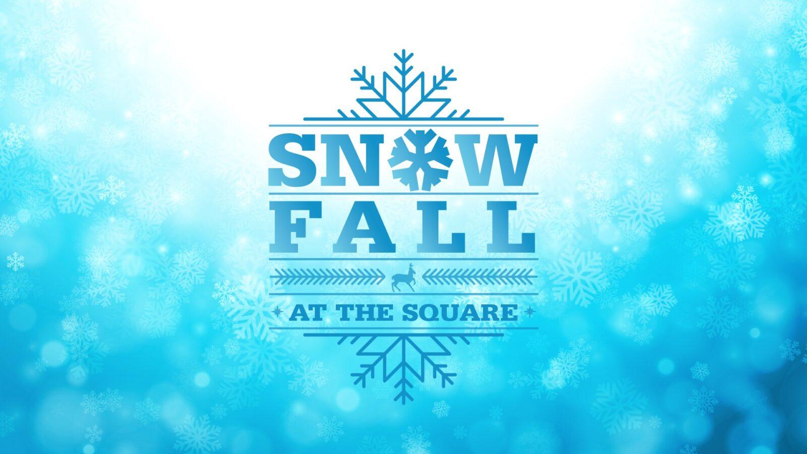 Snowfall on The Square at Memorial City