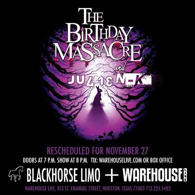 The Birthday Massacre: Julien-K, Scream at the Sky & Manifestiv at Warehouse Live