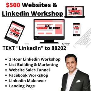 $500 Website and LinkedIn Workshop