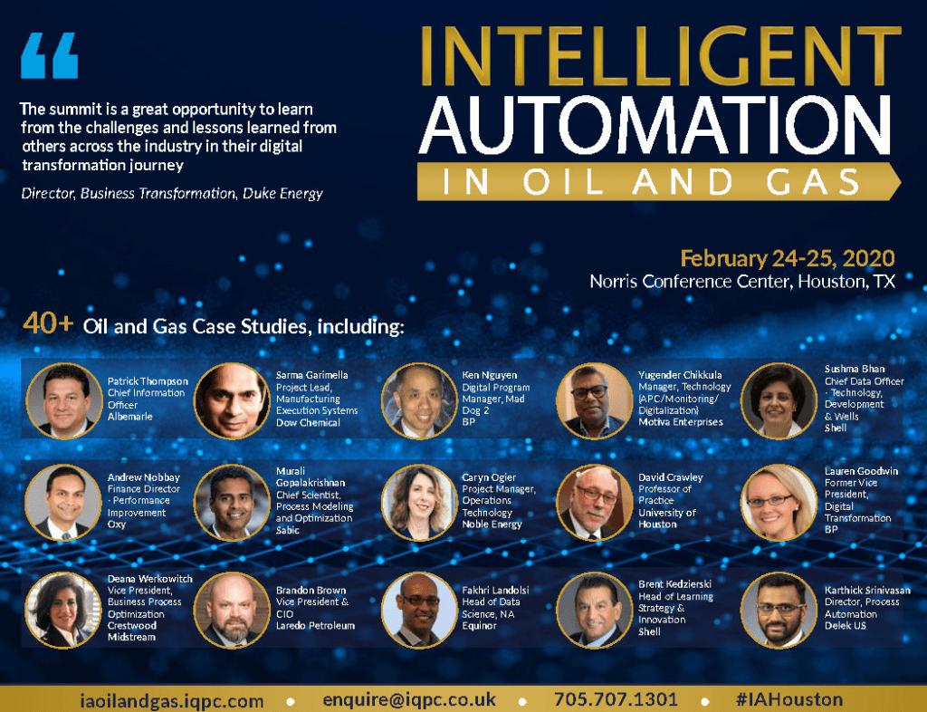 Intelligent Automation in Oil & Gas Summit in Houston